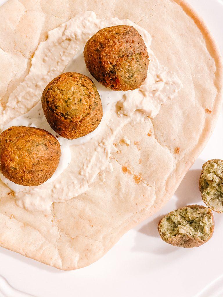 Falafel (GF, Vegetarian & Vegan) with Gluten Free Garlic Naan