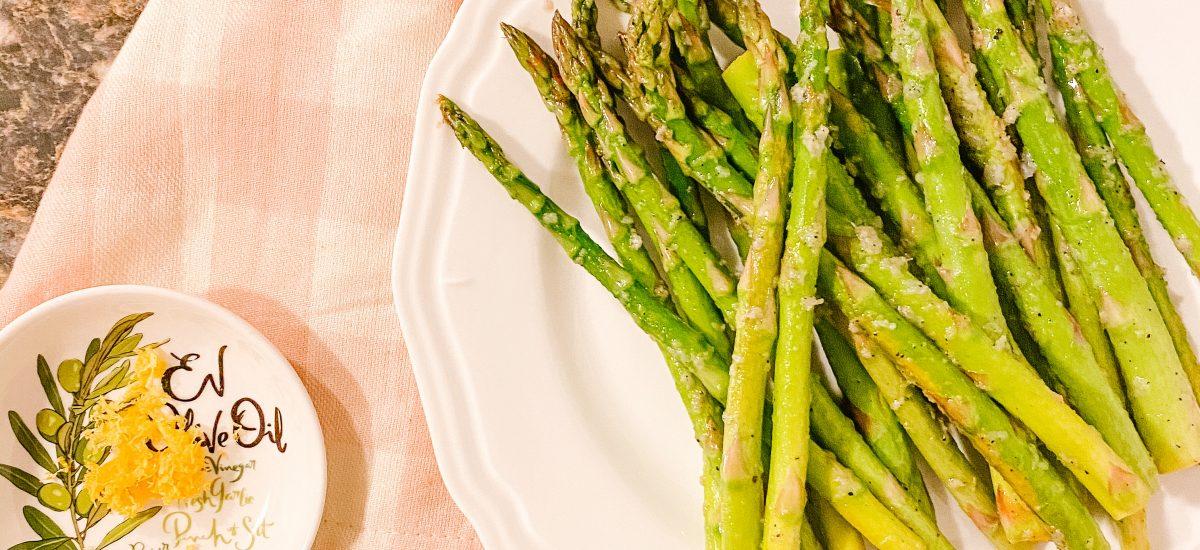 Lemon Garlic Asparagus